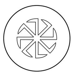 Slavic slavonis symbol kolovrat sign sun icon vector
