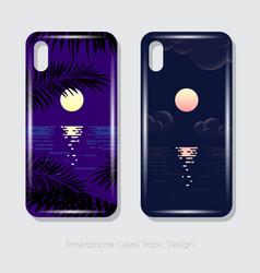 smartphone cases tropic design vector image