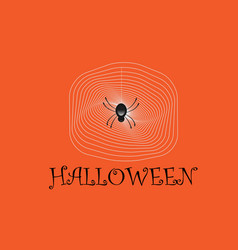 spider web halloween vector image