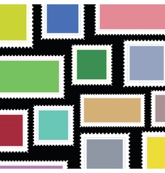 stamps background vector image