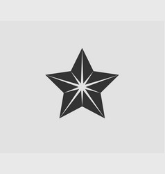 Star icon silhouette isolated on white background vector
