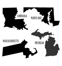 State silhouette collection vector