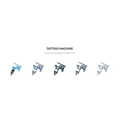 Tattoo machine icon in different style two vector