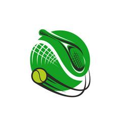 Tennis sport game green icon vector