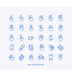 The Gesture Icon Set vector