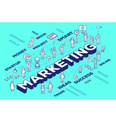 Three dimensional word marketing with peo vector