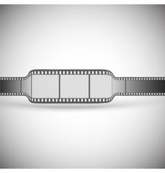 transparent film strip on gray background vector image