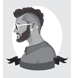 Trendy Hipster Men vector image
