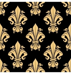 Vintage golden royal seamless pattern vector