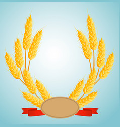 wheat wreath with copy space for text vector image