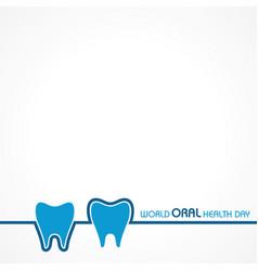 World oral health day design 20 march vector