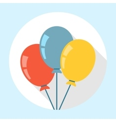 Balloons Icon Flat vector image vector image