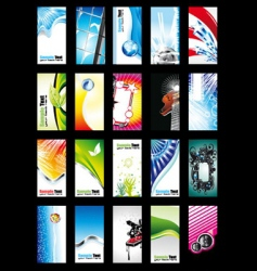 card and background collection vector image