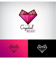 chrystal heart icon jewelry logo Love vector image vector image