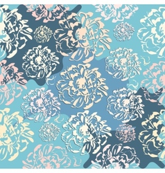Cute abstract floral seamless pattern vector image