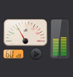 decibel gauge vector image