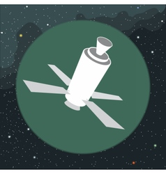 Digital with space satellite icon vector image vector image
