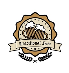 Emblem for Traditional Beer vector image vector image
