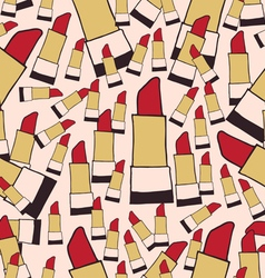 Lipstick seamless pattern color vector image