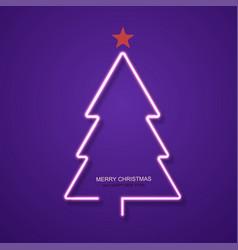 Modern neon christmas tree background vector