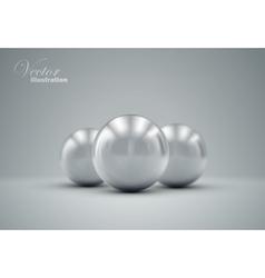 3D metallic spheres vector image