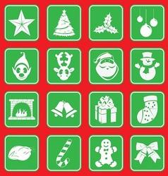 christmass icon set vector image