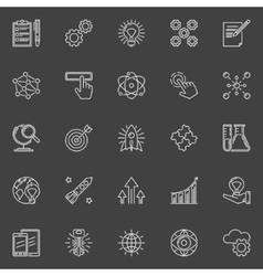 Innovation outline white icons vector image vector image