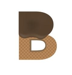 Wafer B letter vector image