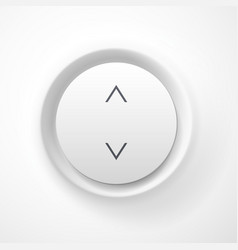 White plastic volume button vector image