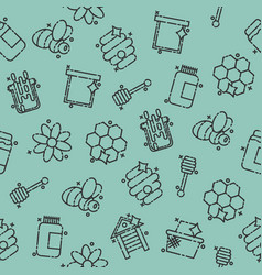 apiary icons pattern vector image