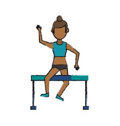 Athlete girl vector
