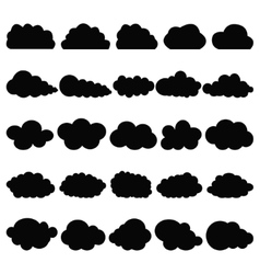 Black clouds vector image