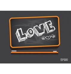 Blackboard Love Valentines Day Background vector image vector image