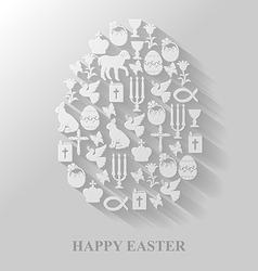 easter cet egg flat vector image