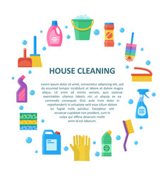 house cleaning banner in a flat style vector image