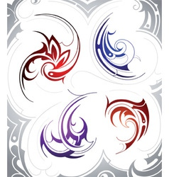 Tattoo Swirls vector image vector image