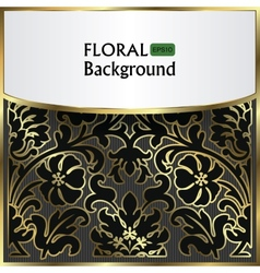 background with a gold flower pattern vector image vector image