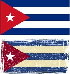 Cuban grunge flag vector image