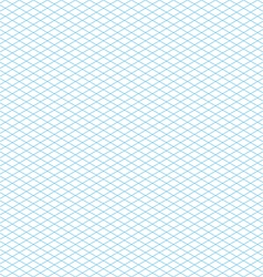 Empty seamless isometric grid pattern vector