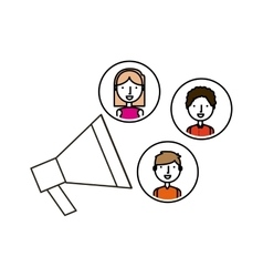 megaphone and people vector image