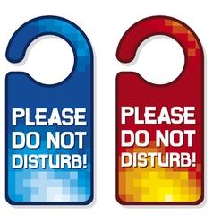 please do not disturb sign set vector image