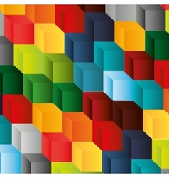 abstract cube pattern background design vector image