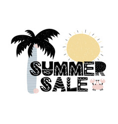 Advert card with lettering summer sale in vector