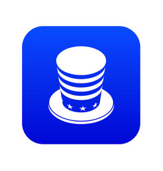 American conic hat icon blue vector