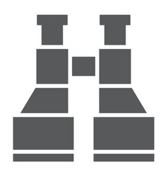 army binoculars glyph icon explore and military vector image