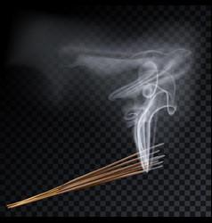Aroma smoke eight reed sticks aromatherapy vector