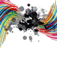 artistic abstract design vector image