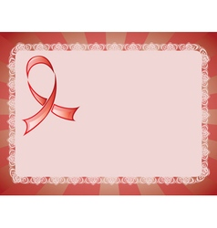 Awareness Red Ribbon3 vector