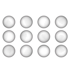 Ball sphere dot abstract dotted design element set vector