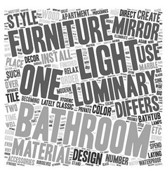 Bathroom From Over The Moon Part Two text vector image